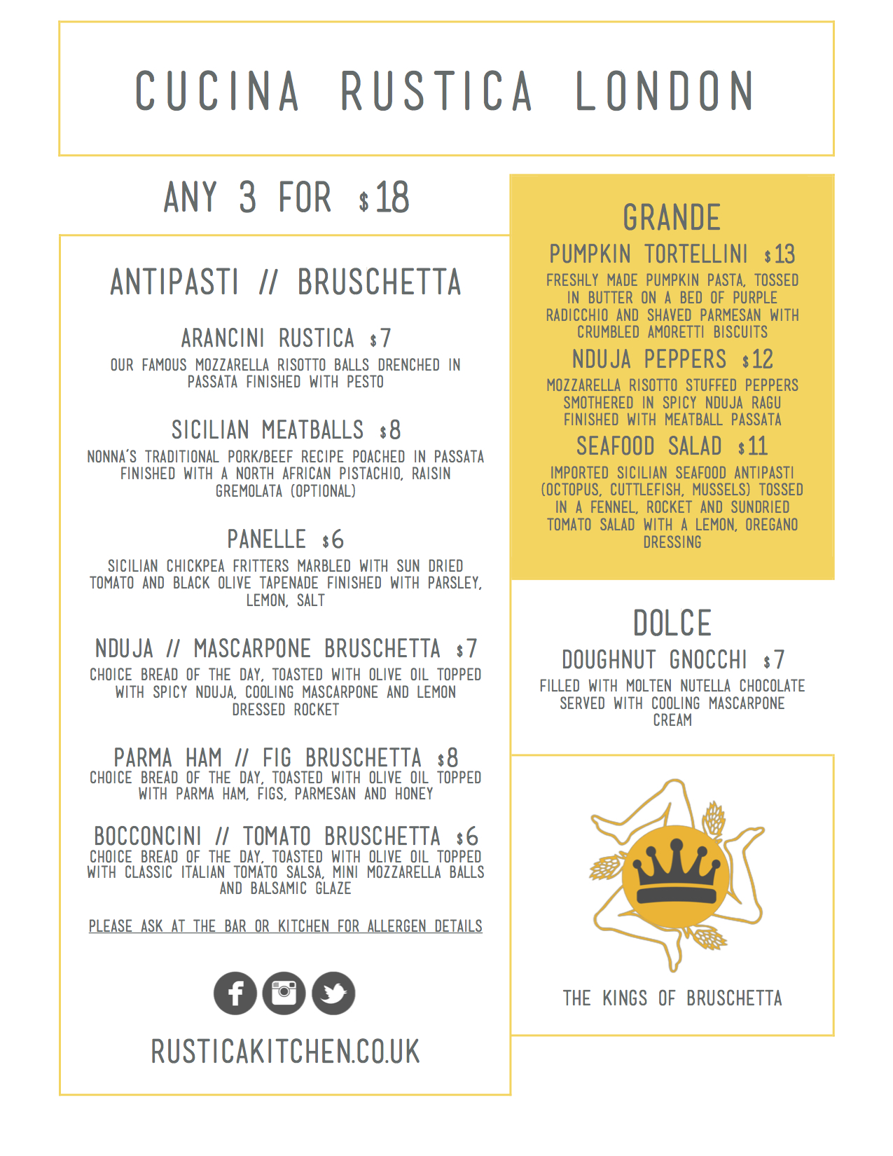 Kitchen resident 7th august 3rd september cucina rustica for Menu cucina
