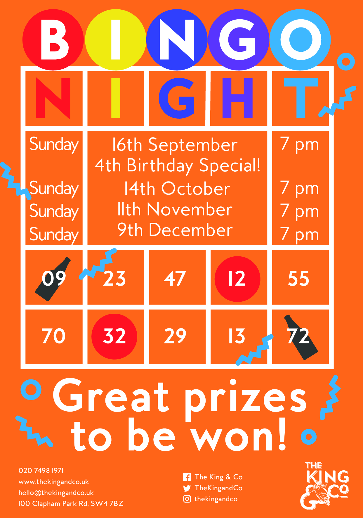 MONTHLY BINGO NIGHT WITH TOMMY MCTRIVIA